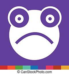 Frog emotion Icon Illustration sign design