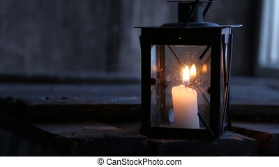 Lantern with a candle