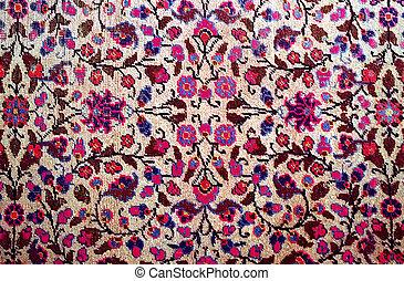 antique worn oriental carpet