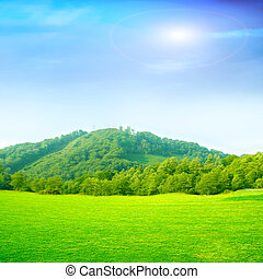 mountain landscape - abstract scene mountain landscape on...
