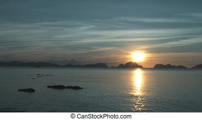 Sunset in El Nido , Philippines - Sunset in El Nido ( Corong...