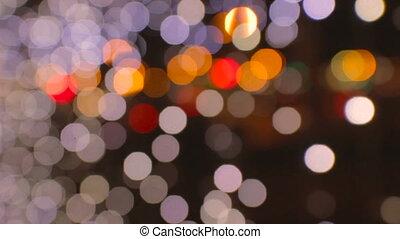 Night city is defocused with nice bokeh