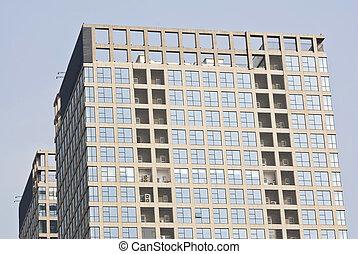 edifícios,  highrise, escritório