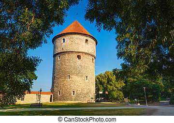 Medieval Tower Kiek-in-de-Kok In Park On Hill Toompea in...