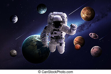 High resolution images presents planets of the solar system....