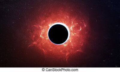Abstract scientific background - full eclipse, black hole...
