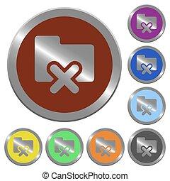 Color folder cancel buttons
