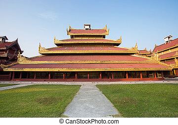 mandalay - Mandalay palace at Mandalay city of Myanmar...