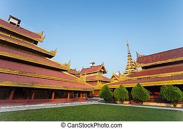 mandalay - Mandalay palace at Mandalay city of Myanmar Burma...