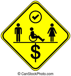 Equal Employment Opportunities - Concept sign for equal...