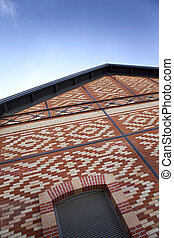Renovated brick building - Facade of an old brick building...