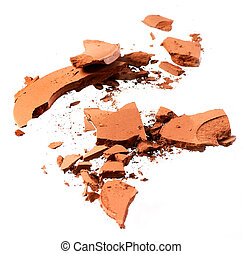 cosmetic powders - cosmetic powder on the white background