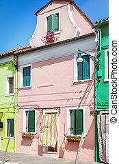 Painted houses in Venice