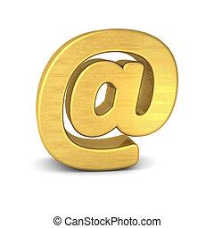 symbol at gold vertikal