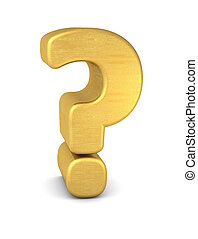 symbol question mark gold vertikal