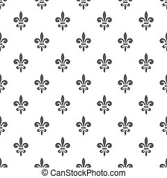 royal lily seamless pattern - Seamless pattern with...