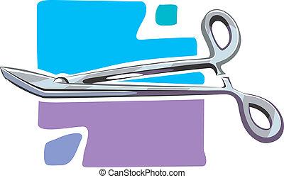 Scissors - Illustration of surgical scissors