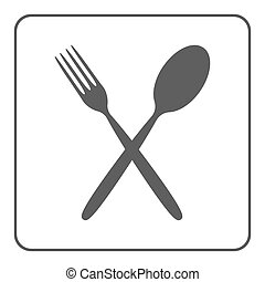crossed spoon and fork icon