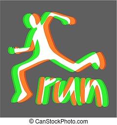 Visual run - Creative design of Visual run