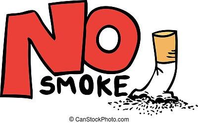 no smoke message - Creative design of no smoke message