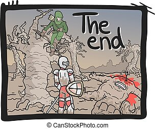 The end comic - Creative design of The end comic