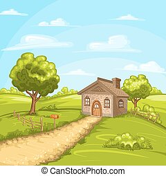 Landscape with a home