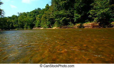 Sugar River Landscape Indiana - Sugar Creek rapids on a...