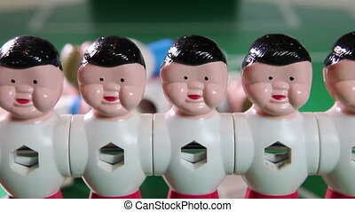 Toy football players Close up