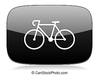bicycle black glossy web modern icon
