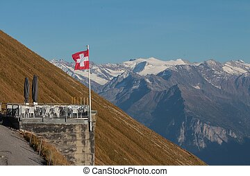 Terrace on the Brienzer Rothorn, Bernese Oberland