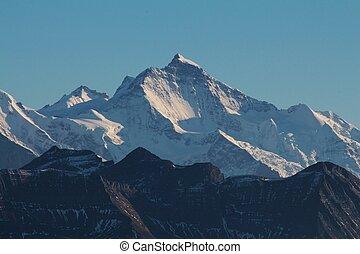 Jungfrau, majestic mountain in the Bernese Oberland