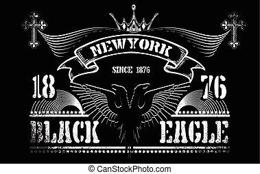 """vintage label """" black eagle"""""""