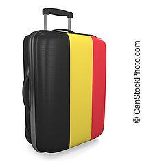 Belgium travel suitcase - Belgium vacation destination...
