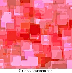 pink square painting abstract