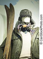 Vintage ski store skiing clothes - Vintage ski store window...