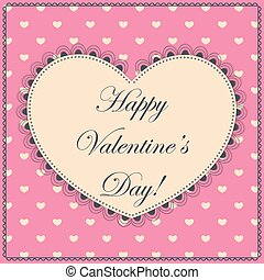 Happy Valentine day vintage - Vector happy Valentine day...