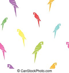 Parrot vector art background design for fabric and decor...