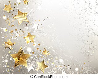 gray background with gold stars - gray textured background...