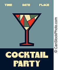 cocktail party retro poster
