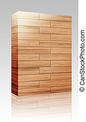 Wooden parquet texture box package - Software package box...