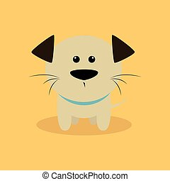 Cute Cartoon dog - Abstract cute dog on a special background
