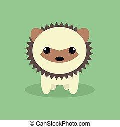 Cute Cartoon Porcupine - Abstract cute Procupine on a...