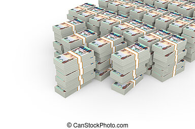3d stacks of UAE dirhams - 3d render of stacks of UAE...