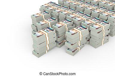 3d stacks of UAE dirhams - 3d render of stacks of UAE...