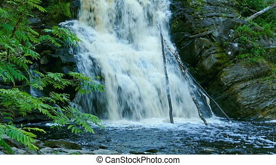 Yukankoski waterfall in Karelia - Yukankoski waterfall white...