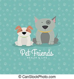 Pet shop background - Abstract pet shop background with some...