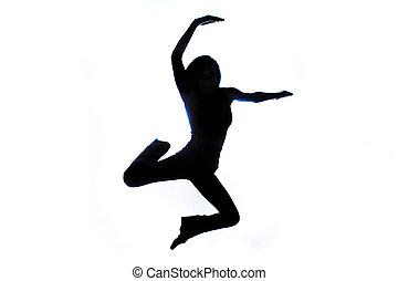 Dancing Girl Silhouette - Silhouette shot of a Girl Dancing