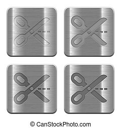 Metal cut out buttons - Set of cut out buttons vector in...