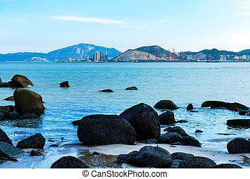 Porcelana, Xiamen, morze,