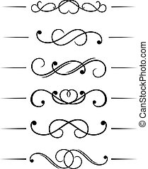 Swirl elements set and monograms f